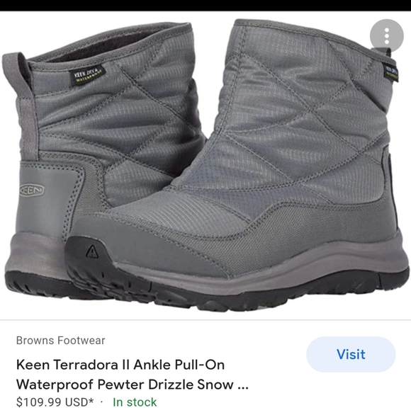 Keen terradora ll ankle pull on grey snow boot 7